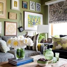 Cozy Eclectic Family Room
