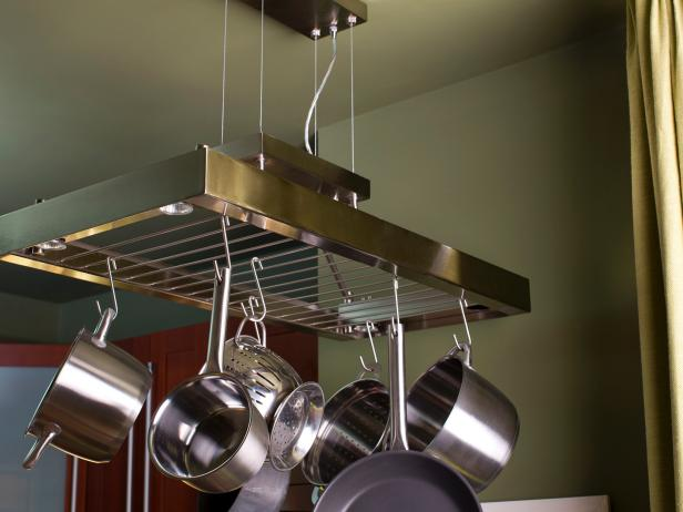 Hanging Pot Rack For Kitchen