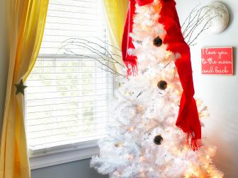 Snowman Christmas Tree in Boy's Room
