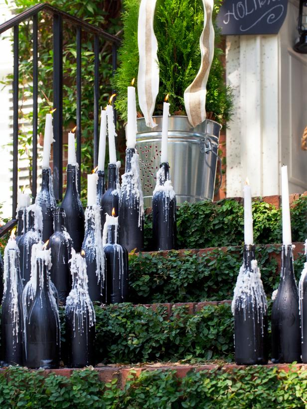 How To Make Wine Bottle Candelabras Hgtv