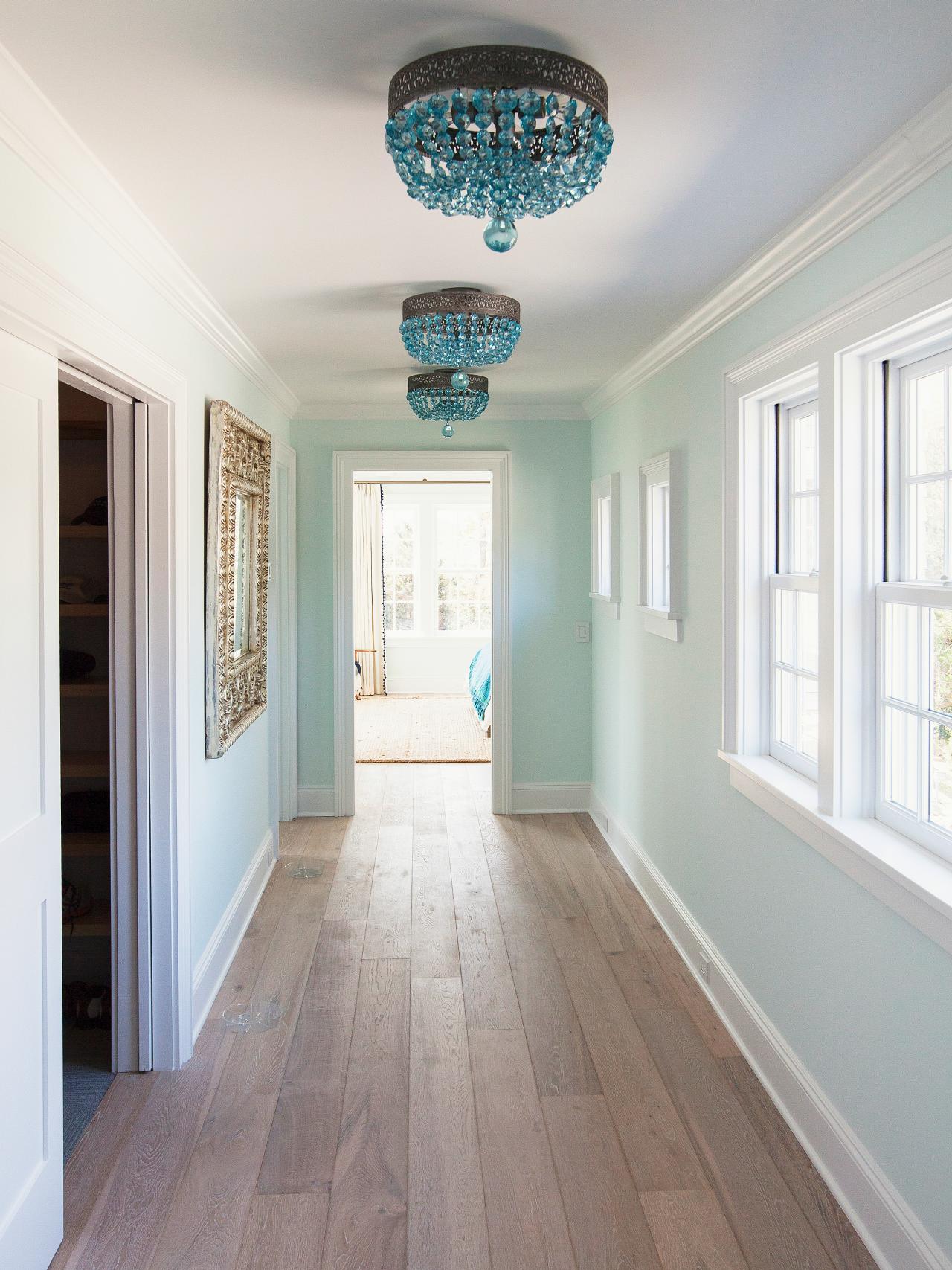 Blue Crystal Hallway Lights