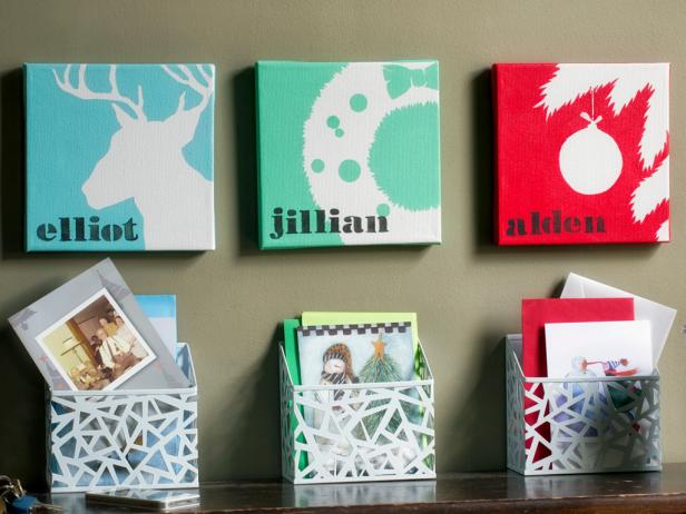 Personalized Holiday Mail Holders