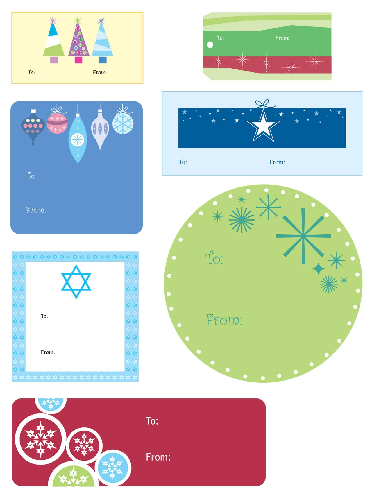 Christmas Gift Tag Templates  Homemade Gift Vouchers Templates