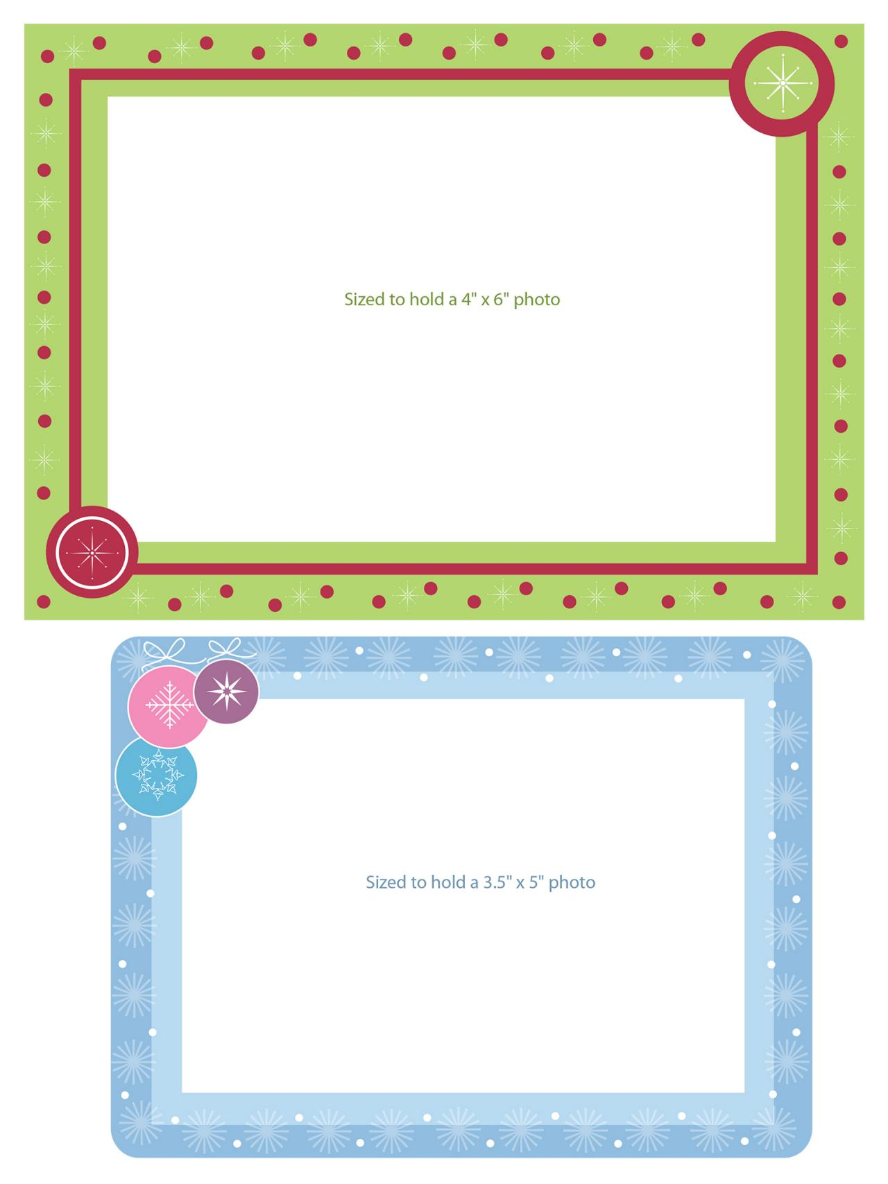 Printable (and Free!) Christmas Card Templates  Free Word Christmas Templates