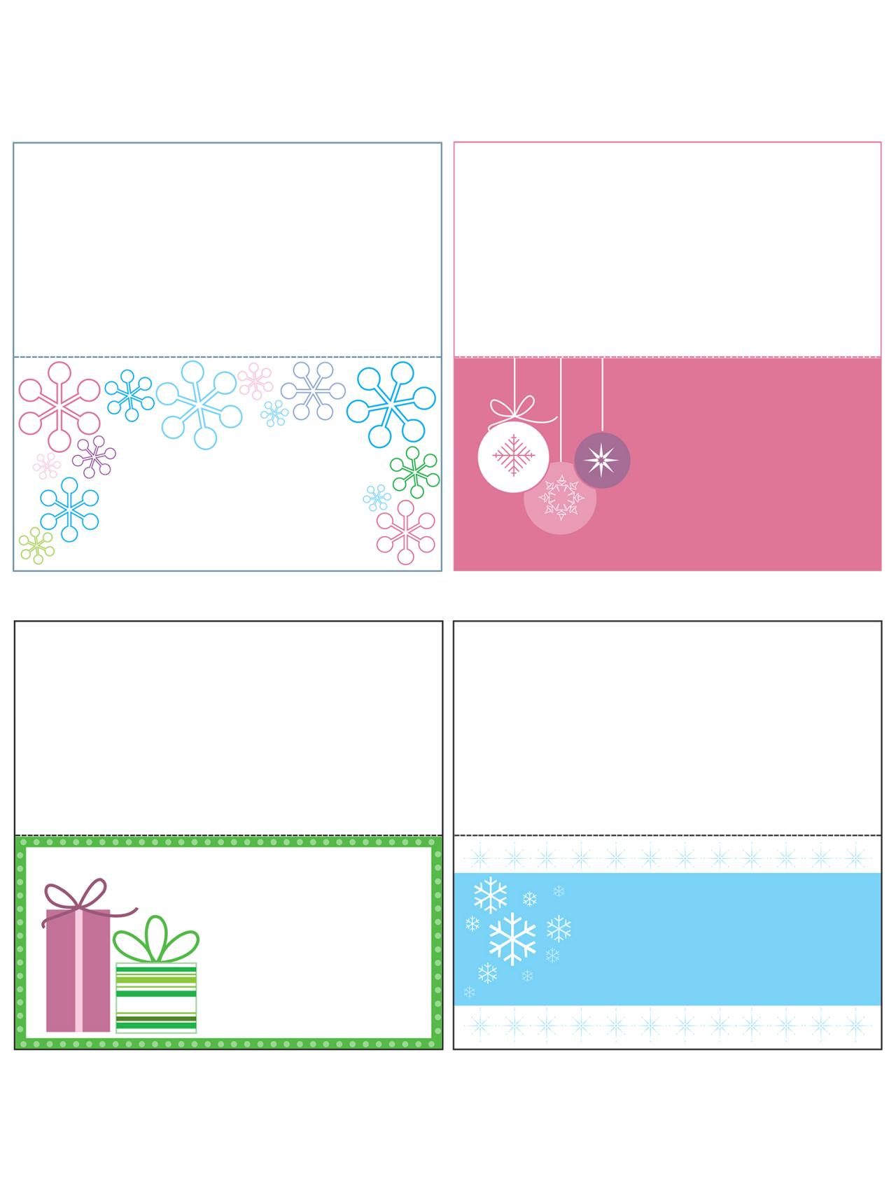 Free Christmas Templates Printable Gift Tags Cards Crafts More - Card template free: avery place card template