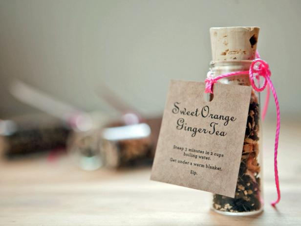 Sweet Orange Ginger Tea Party Favor