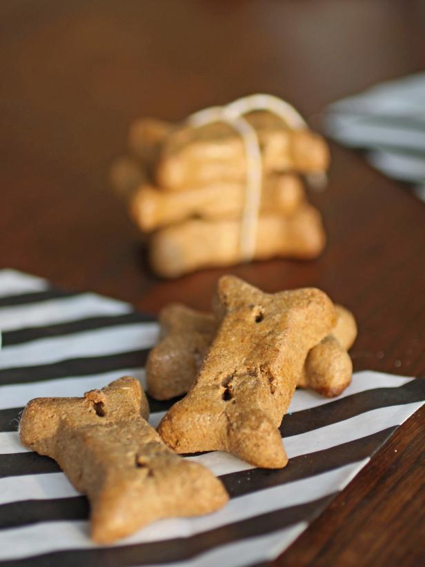 Bone-Shaped Peanut Butter Dog Treats