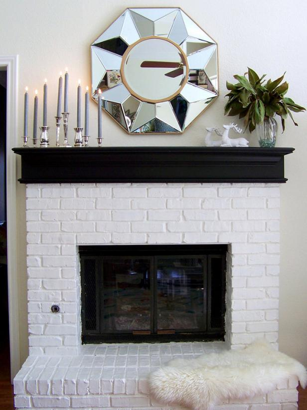 White and Silver Modern Mantel Display