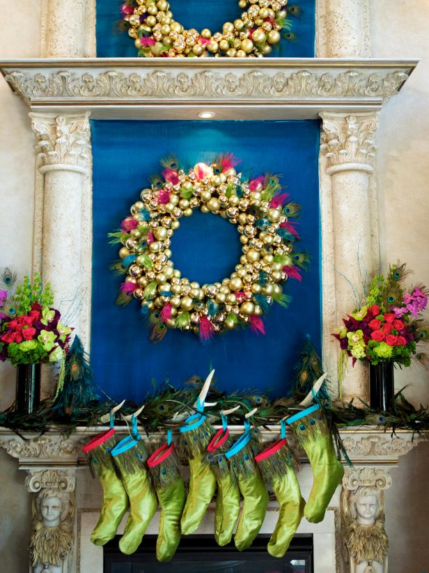 photo by gilles mingasson getty images 2013 hgtvscripps networks llc all rights reserved - Country Christmas Mantel Decorating Ideas
