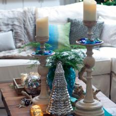 Coffee Table Decked Out In Stylish Christmas Decor