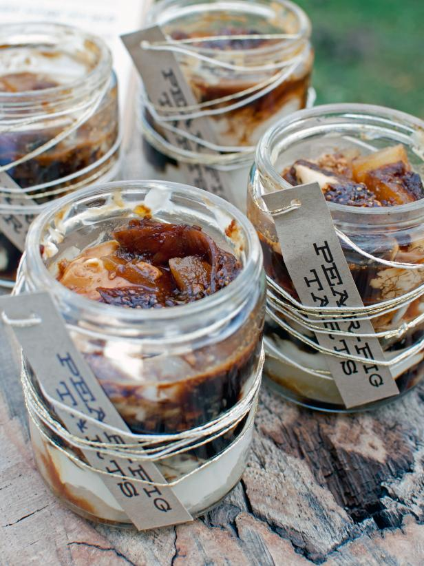 Pear and Fig Tart in a Jar Dessert