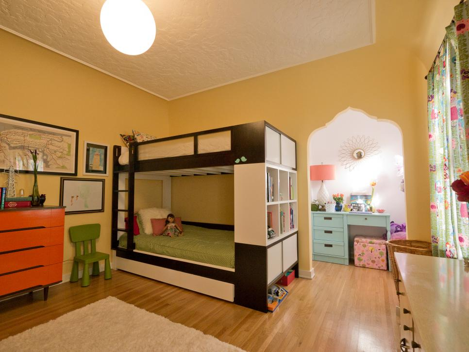A shared bedroom for a brother and sister hgtv for Rooms 4 kids