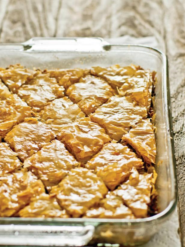 Baklava Cut Into Diamond Shapes