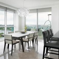 Modern Dining Room With Bay View