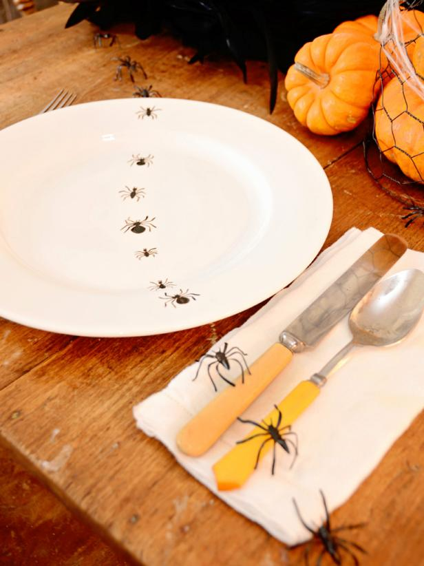 Hand-Painted Insect Plates