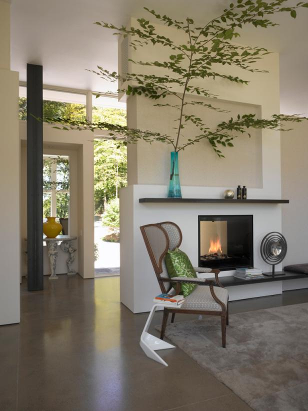 Relaxing Double Sided Fireplace
