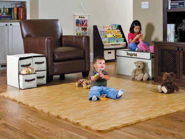 Soft Hardwood-style Tiles for Babies