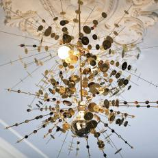 Golden Confetti Light Fixture