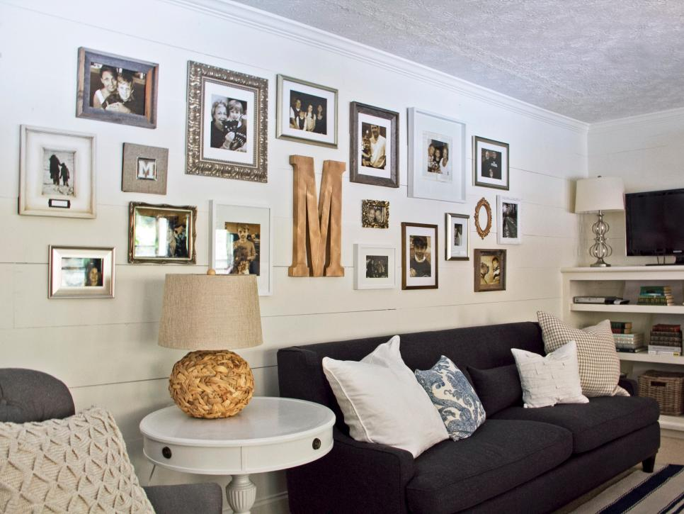 Gallery-Style Wall Grouping in Living Room