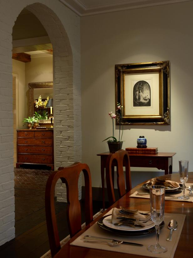 Artwork Showcased in Traditional Dining Space