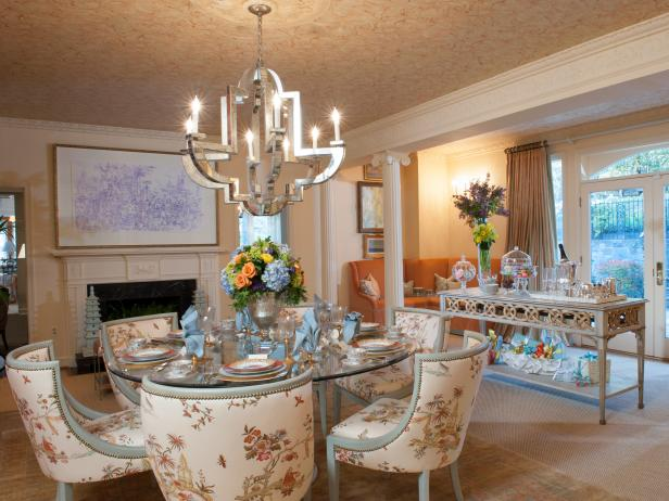 Multicolored Formal Dining Area