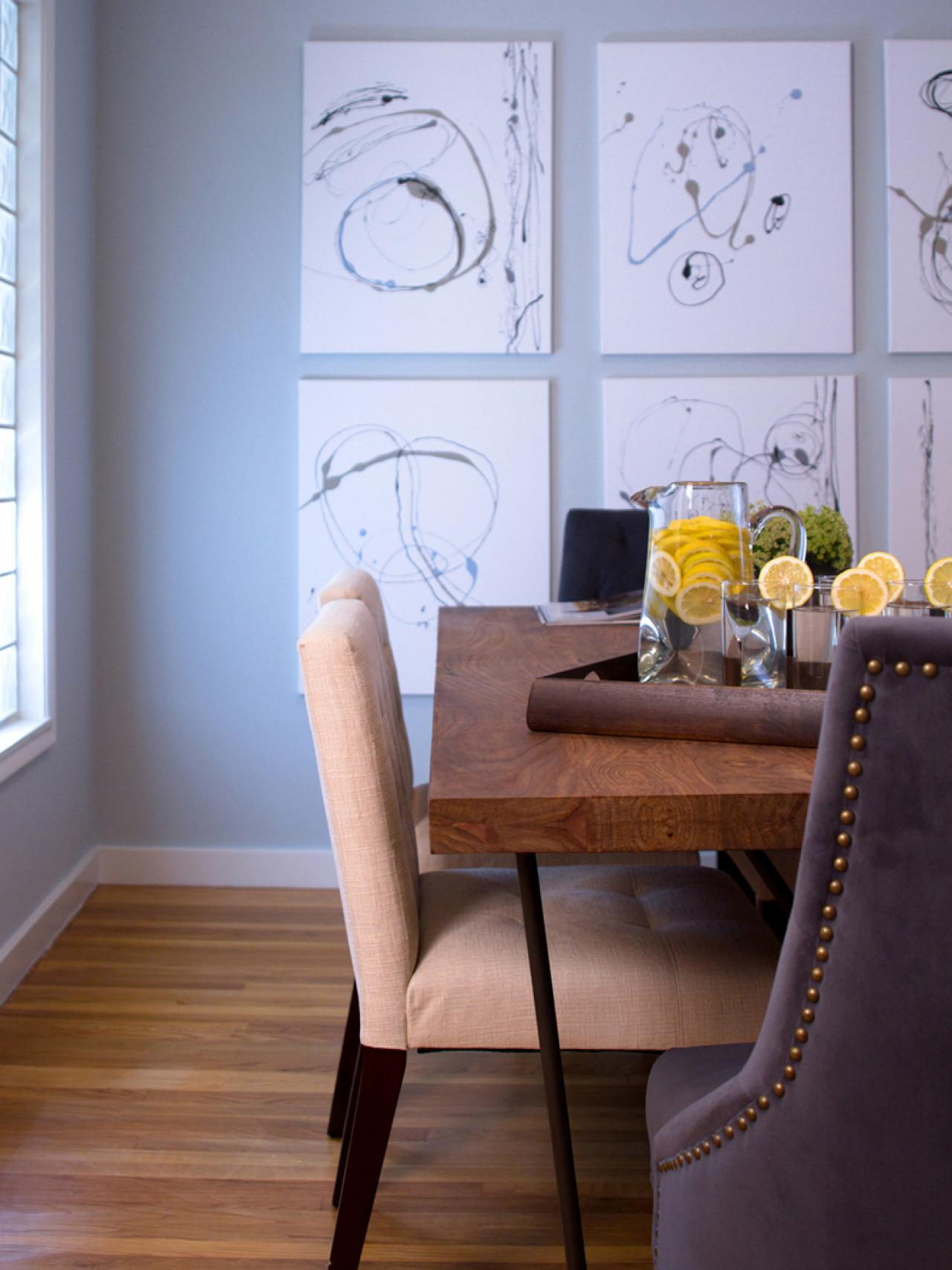 Photo page hgtv for Modern paintings for dining room