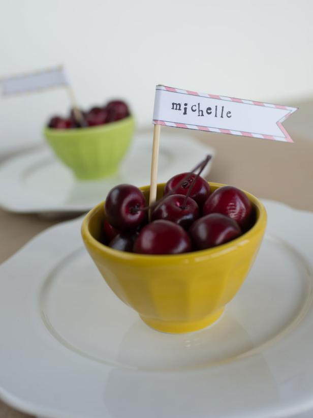 Whimsical Toothpick Flags Perfect for Place Cards