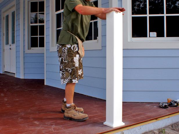 Carefully measure the distance between each pair of posts or columns.
