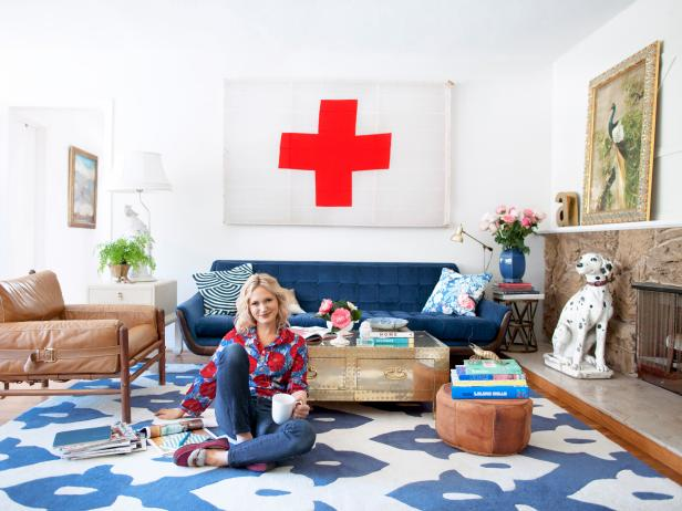 Emily Henderson in Eclectic Living Room