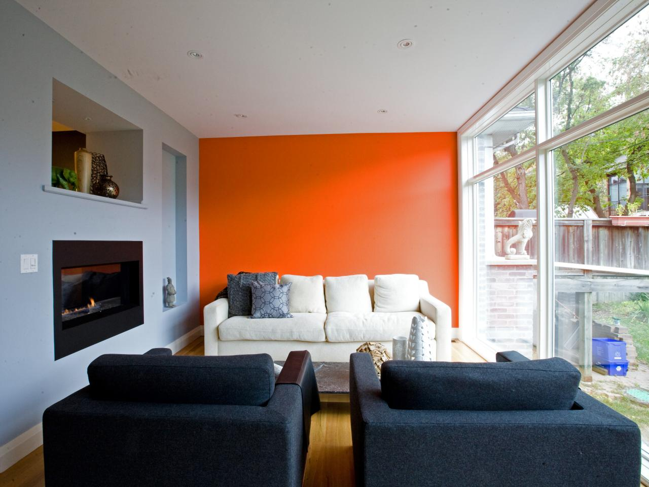 orange accent living room photo page hgtv 16224