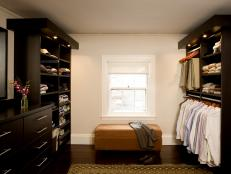 Traditional Neutral Mens Walk-In Closet