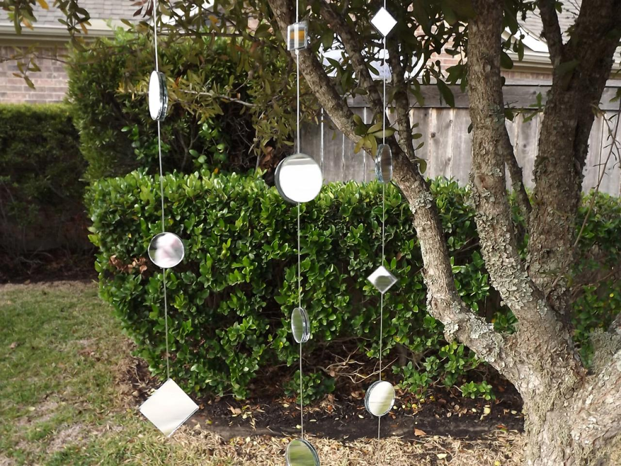 How To Make A Mirror Garland For The Garden Hgtv