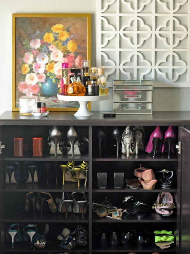 25 shoe organizer ideas hgtv Living room shoe storage ideas
