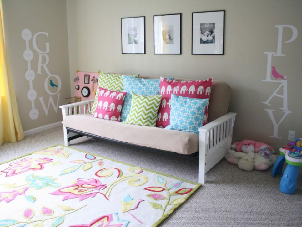 Affordable Kids' Room Decorating Ideas HGTV Delectable Bedroom Decorations Cheap