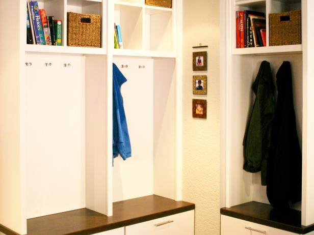 White Mudroom With Smart Storage
