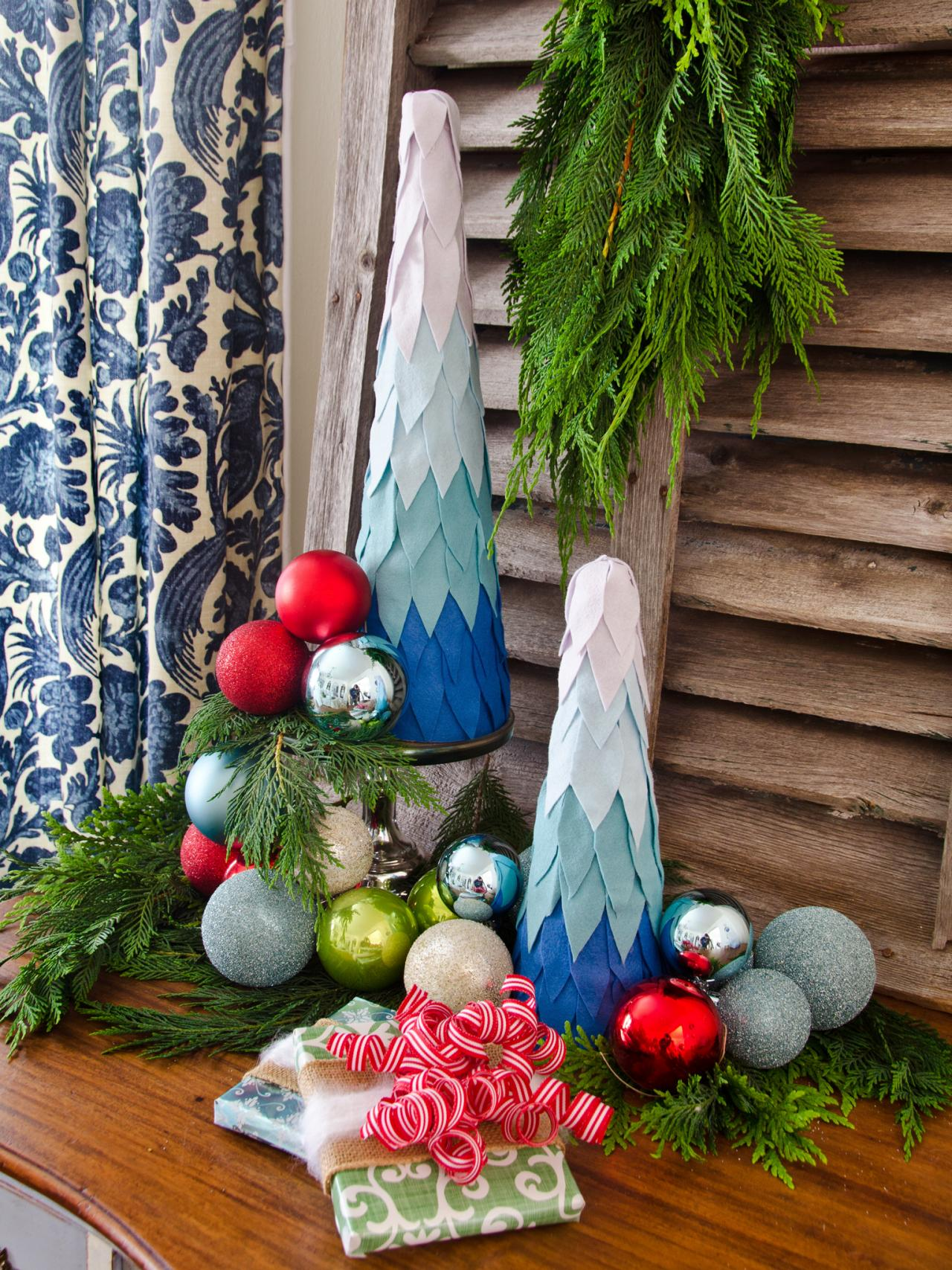 Ombre Tabletop Christmas Trees | HGTV