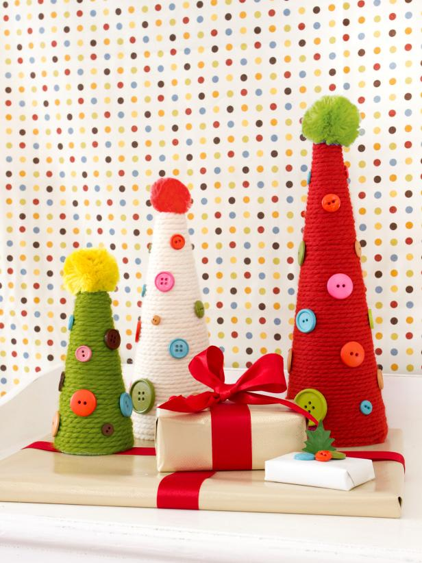 holiday yarn cones