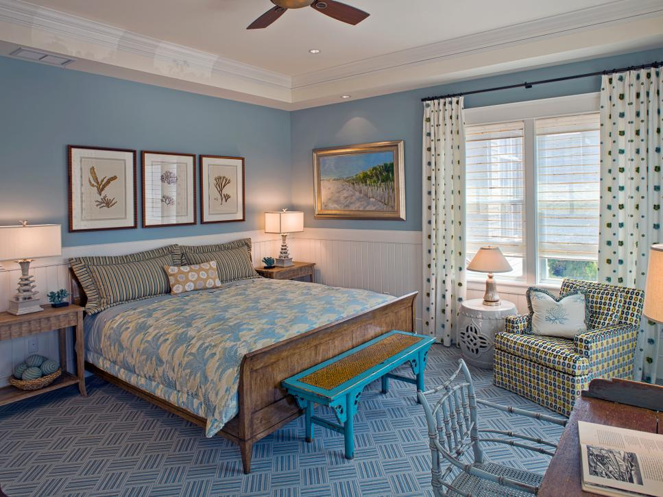 CoastalInspired Bedrooms HGTV Mesmerizing Master Bedroom Decorating Ideas