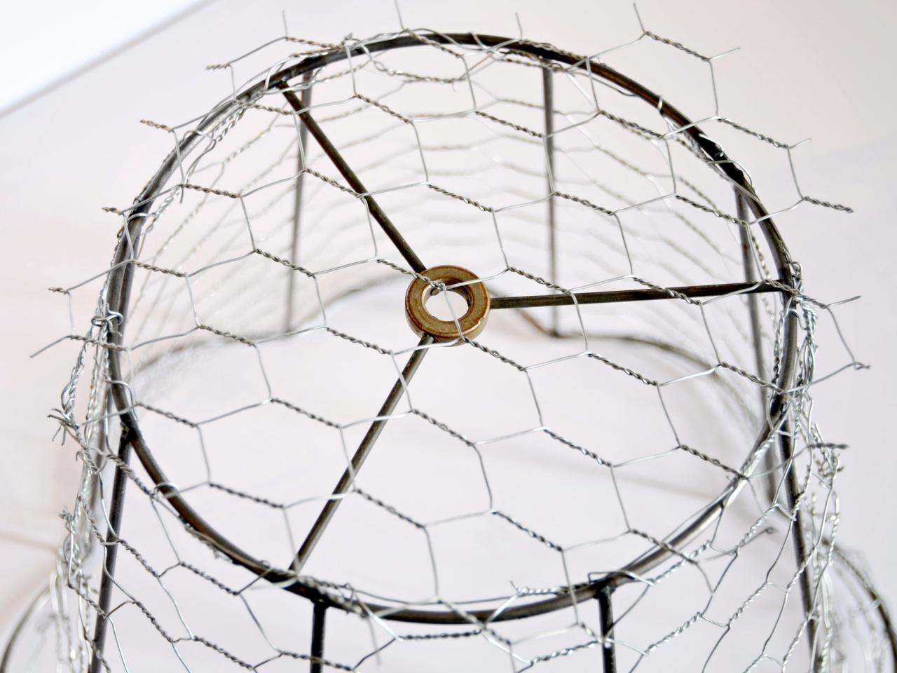 How to make a chicken wire cloche for halloween hgtv cut and secure top greentooth Gallery