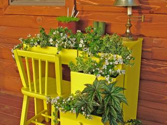 Yellow Desk Garden Container