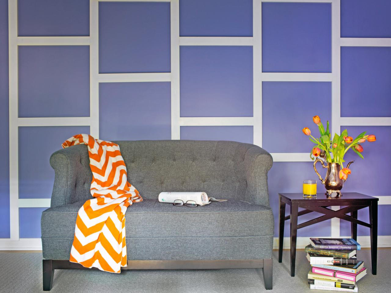 Create a geometric focal wall with trim hgtv design star - Geometric wall designs with paint ...