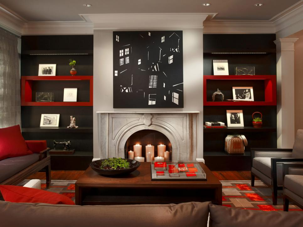 Before and after fireplace makeovers hgtv - How to make a brick fireplace look modern ...