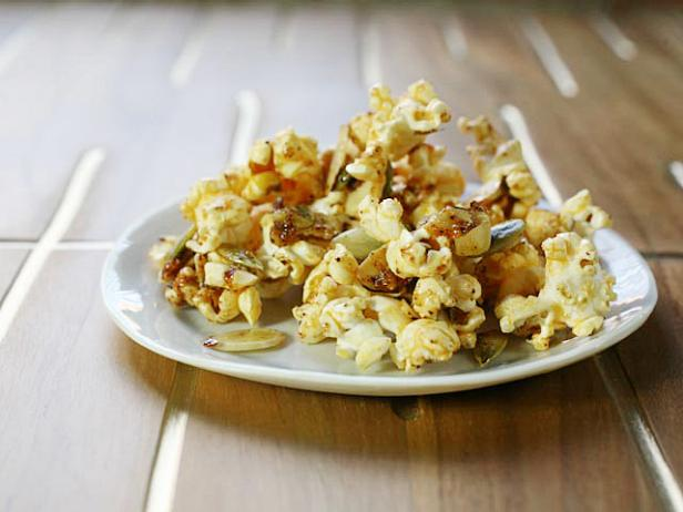 Cooking Channel Sweet and Spicy Popcorn Snack Mix Recipe