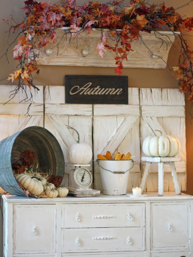 Autumn Vignette In White