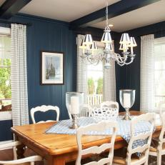 Blue Country Style Dining Room