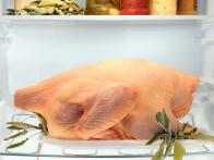 Raw Poultry in Refrigerator