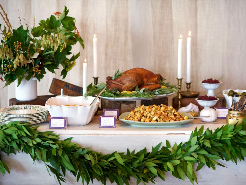 Stress Less Holiday Entertaining Set Up A Thanksgiving Buffet