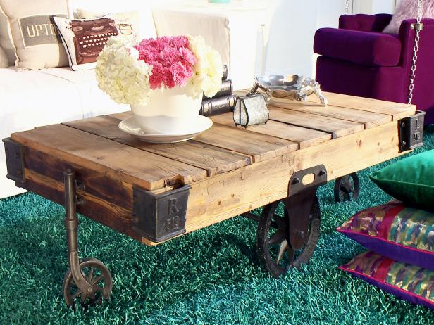 Coffee Table Made From Shipping Pallet
