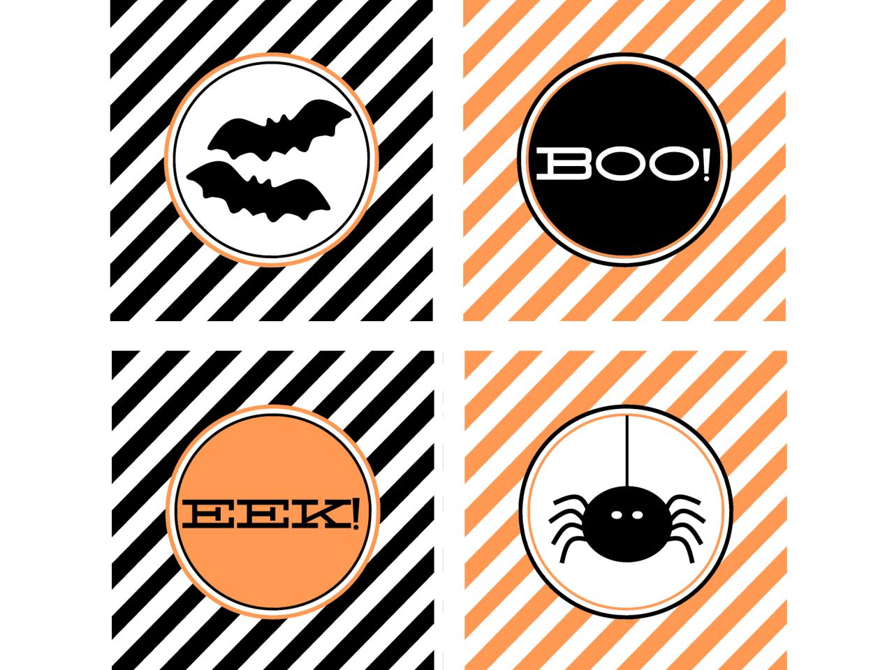 cupcake labels for halloween party