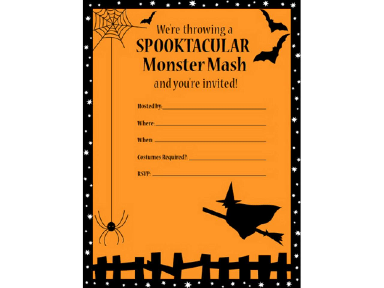 image relating to Printable Halloween Birthday Invitations called 41 Printable (and Absolutely free!) Halloween Templates HGTV